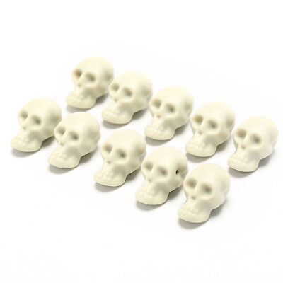 Small Halloween Party (10pcs Plastic Skull Head Halloween Ghost Festival Small Toy Party Decor)