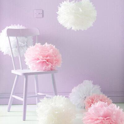 18 Stück Seidenpapier Pompoms Blumen Ball Dekorpapier für Geburtstag Hochzeit ()