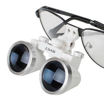 Dental Surgical Medical Binocular Loupes 2.5x 420mm Optical Glass Loupe Usa
