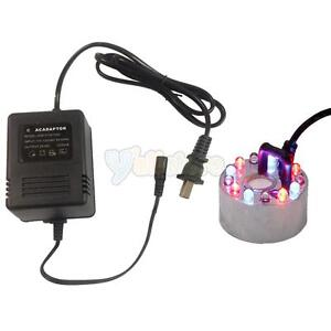 NEW-Colorful-Ultrasonic-Mist-Maker-Fogger-Water-Fountain-Pond-12LED-Transformer