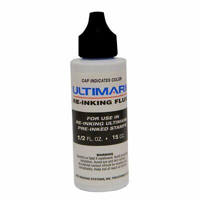 Ultimark Pre-inked Stamp Ink Black .5 Oz Drip Spout Bottle