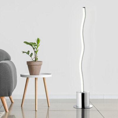 LED Lámpara de Pie Salón Habitación Ondas Mesa Iluminación Plata Auxiliar