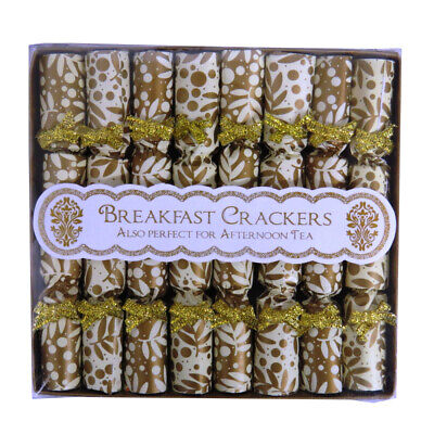 Christmas / Afternoon Tea, Breakfast Saucer Side Crackers - Box of 8, Gold ()