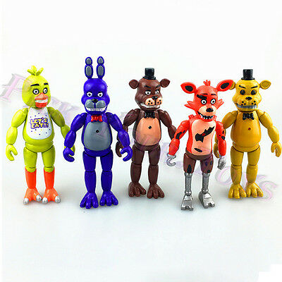 Five Nights At Freddys 6  Fnaf Action Figure With Light Toy Gift Us Stock 5 Pcs