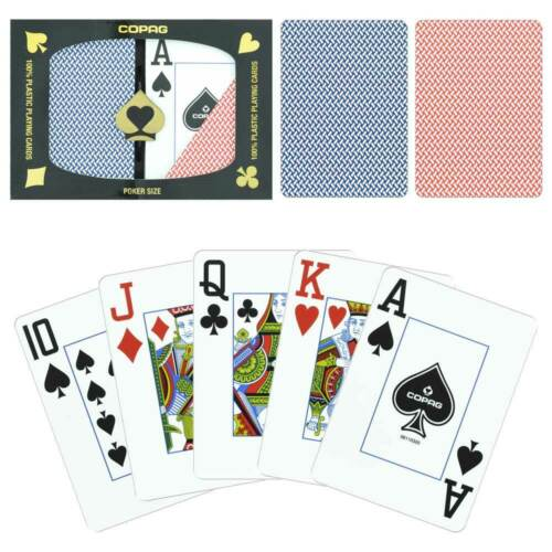 New COPAG Export Poker Size Jumbo Index Plastic Playing Cards FREE CUT CARD