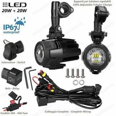 SPOTLIGHTS LED FOG LIGHT WIRING AND SWITCH TRIUMPH 800 TIGER XC ABS 20
