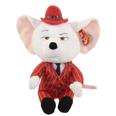 """TY Beanie Baby 6"""" MIKE the Mouse (Sing) Plush Stuffed Animal MWMT's Heart Tags"""