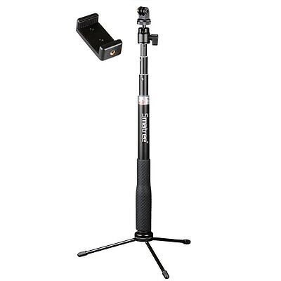 Smatree Selfie Stick with Tripod Stand for GoPro Hero Fusion/8/7/6/5,Ricoh Theta