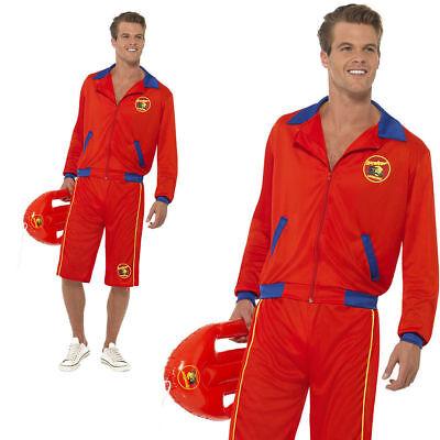 Baywatch Beach Mens Lifeguard 80s 90s TV Fancy Dress Costume Stag Party (80 Beach Party Kostüme)