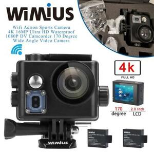 NEW WiMiUS Wifi Action Sports Camera 4K 16MP Ultra HD Waterproof 1080P DV Camcorder 170 Degree Wide Angle Video Camer...