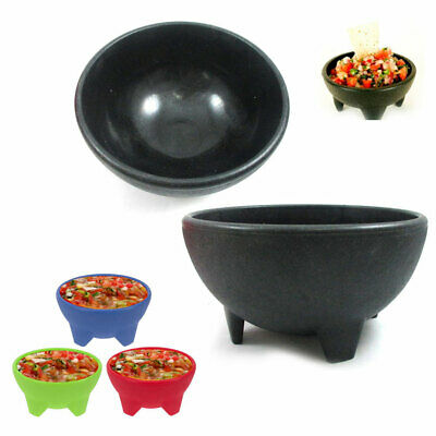 2 Pc Salsa Bowls Plastic Mexican Molcajete Chips Guacamole Bowls Serving Dish