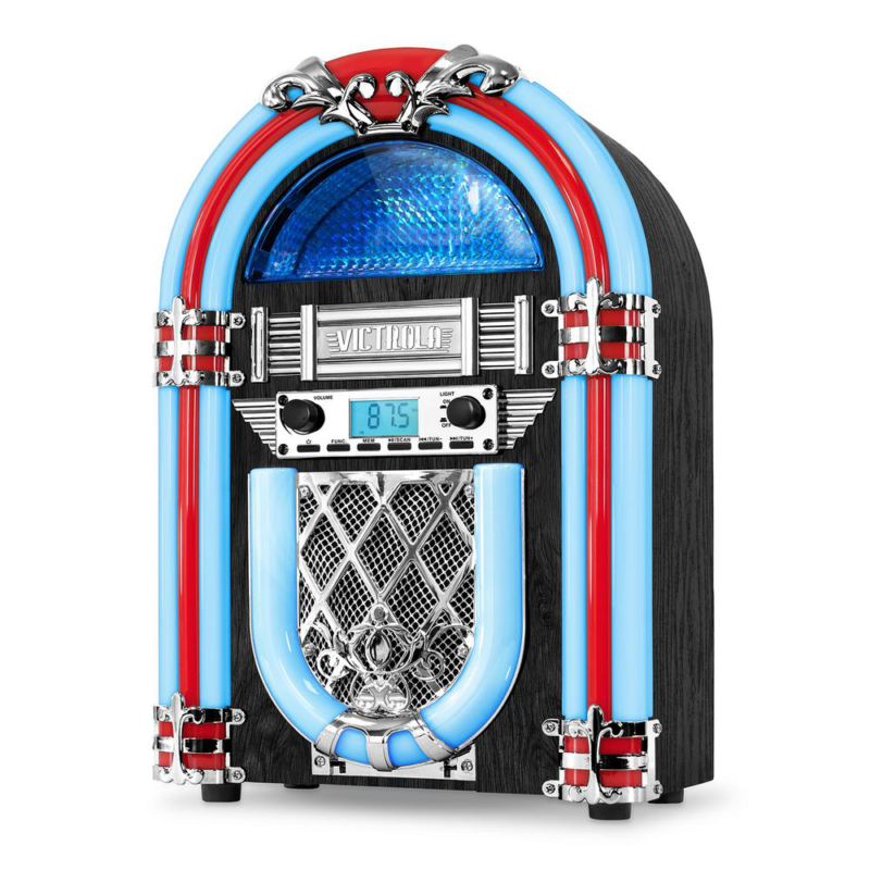 Victrola Nostalgic Wood Countertop Jukebox with Built-in Blu