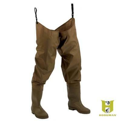 Used, Hodgman fishing hunting PVC Nylon waterproof hip waders cleated sole 12 NEW 1476 for sale  Shipping to South Africa