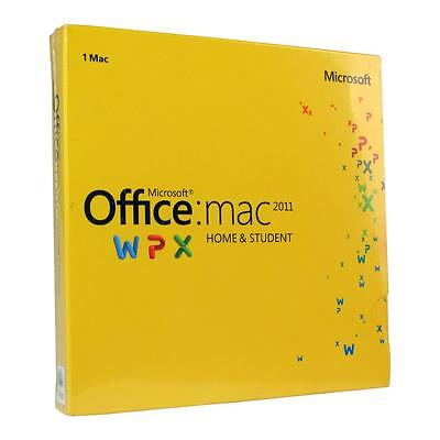 Microsoft Office MAC 2011 WPX 1-MAC Home & STUDENT: Word, Excel, Powerpoint, & O