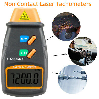 Lcd Digital Laser Photo Tachometer Non Contact Rpm Tach For Lathe Motors Wheels