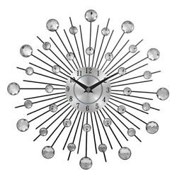 Wall Clock Large Vintage Modern Watch Metal Art Luxury Diamond Design Home Decor