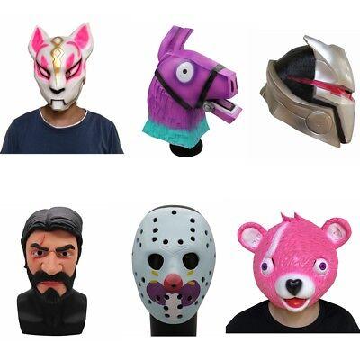 Fox Drift Reaper Bear Latex Cosplay Mask Helmet Halloween Costume Christmas cos - Fox Mask Halloween Costume