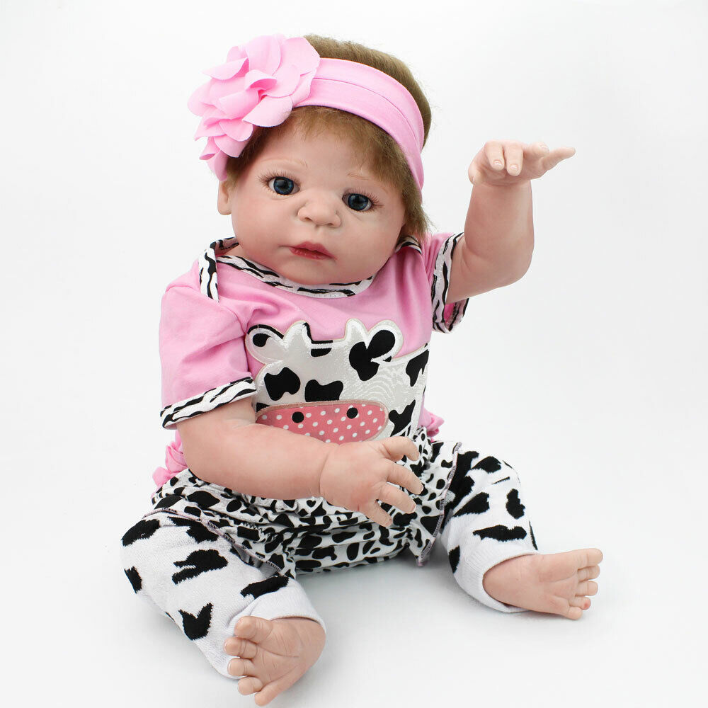 REBORN BABY GIRL DOLL FLOPPY FEELS REAL TO HOLD PINK SPOT DRESS S