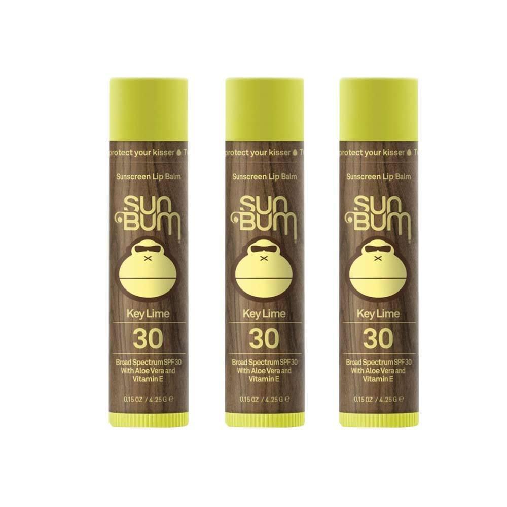 Sun Bum SPF 30 Lip Balm Key Lime 3 Pack