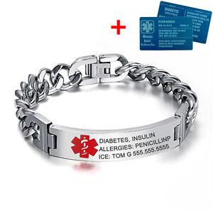 8-5-034-Personalized-Engraving-Emergency-Medical-Alert-ID-Bracelet-amp-Aluminium-Card