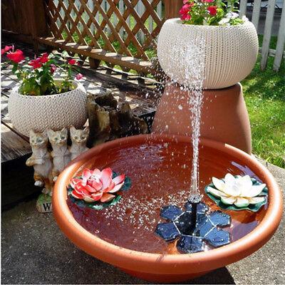 Solar Power Bird Bath Fountain Water Floating Small Pond Garden Patio Decoration