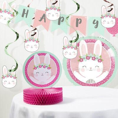 - Bunny Party Birthday Decorations Kit