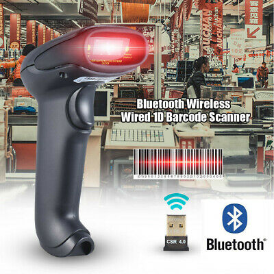 Portable Laser Barcode Scanner Handheld Usb Wireless Pos Bar Codes Reader Us