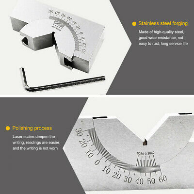 1pc Ap25 Adjustable Angle V Block Micro Milling Setup Angle Blocks With Wrench