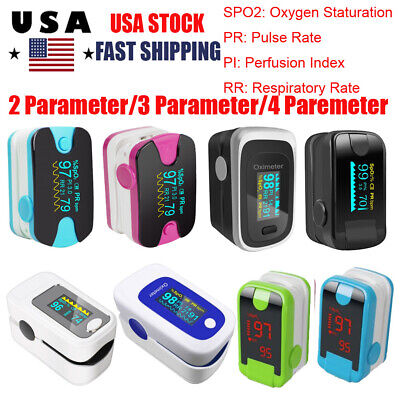 Led Finger Tip Pulse Oximeter Oximetro Blood Oxygen Spo2 Pr Pi Rr Monitor Ce Fda