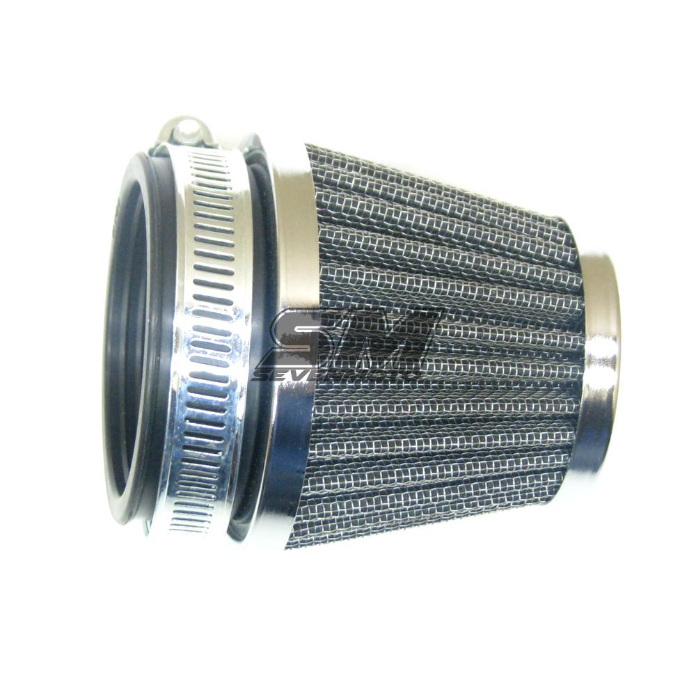 Universal Sportluftfilter Chrome 54-56mm für Motorrad Quad ATV Roller Mofa