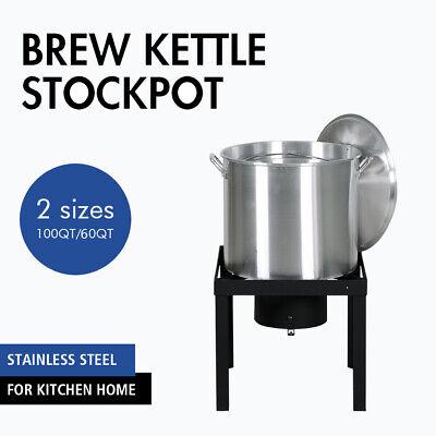 60/100 Qt Deluxe Aluminum Deep Fryer Kit Steamer Stock Pot Propane LP Outdoor Aluminum Stock Pot Kit