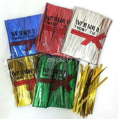 - 800Pcs/Pack Metallic Twist Ties for Cello Bags Candy Bags Bread Bags 6 Colors