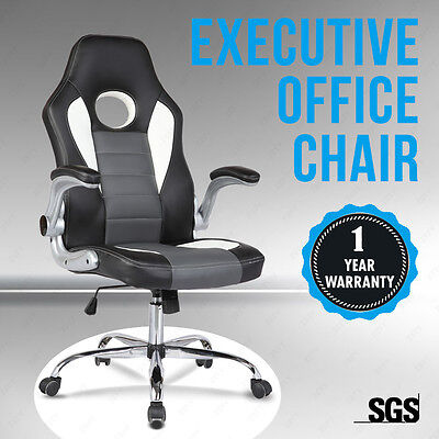 Gaming Racing Car Seat Computer Office Chair High Back Black Executive Swivel