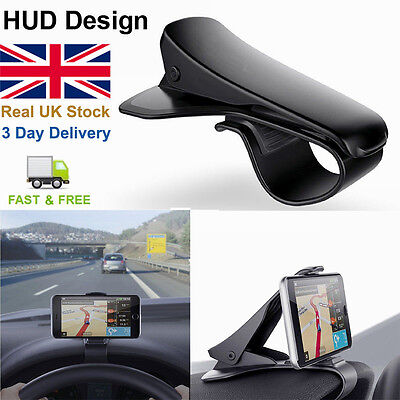 HUD Design All Car Dashboard Mount Holder Stand Clip for All Mobile Phone GPS E