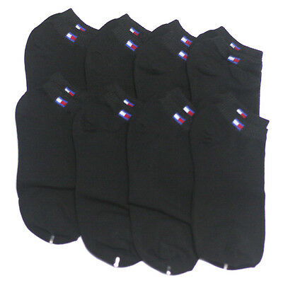 New 8pairs Men Cotton Low Cut Ankle Socks Black Athletic Casual No Pattern #E1-3