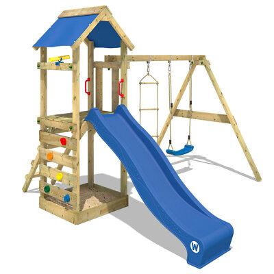 WICKEY FreeFlyer Spielturm Kletterturm Schaukel Klettergerüst Sandkasten Rutsche