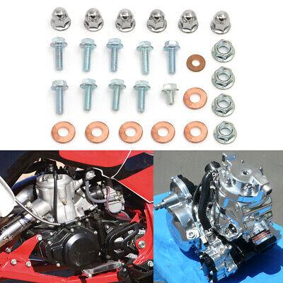 Full Top End Set (Full set ENGINE BOLT TOP END Cylinder Head Reed Cage For HONDA TRX250R)
