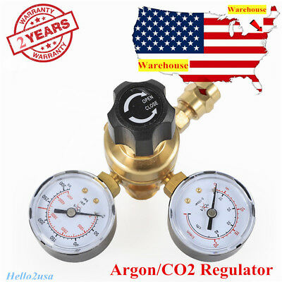 Argon Co2 Gas Mig Tig Welding Flow Meter Regulator Pressure Control Gauge Safety
