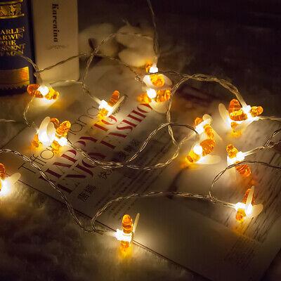 LED Miel Abeja Fairy Cuerda Luces Exteriores Jardín Fiesta Boda Decoración