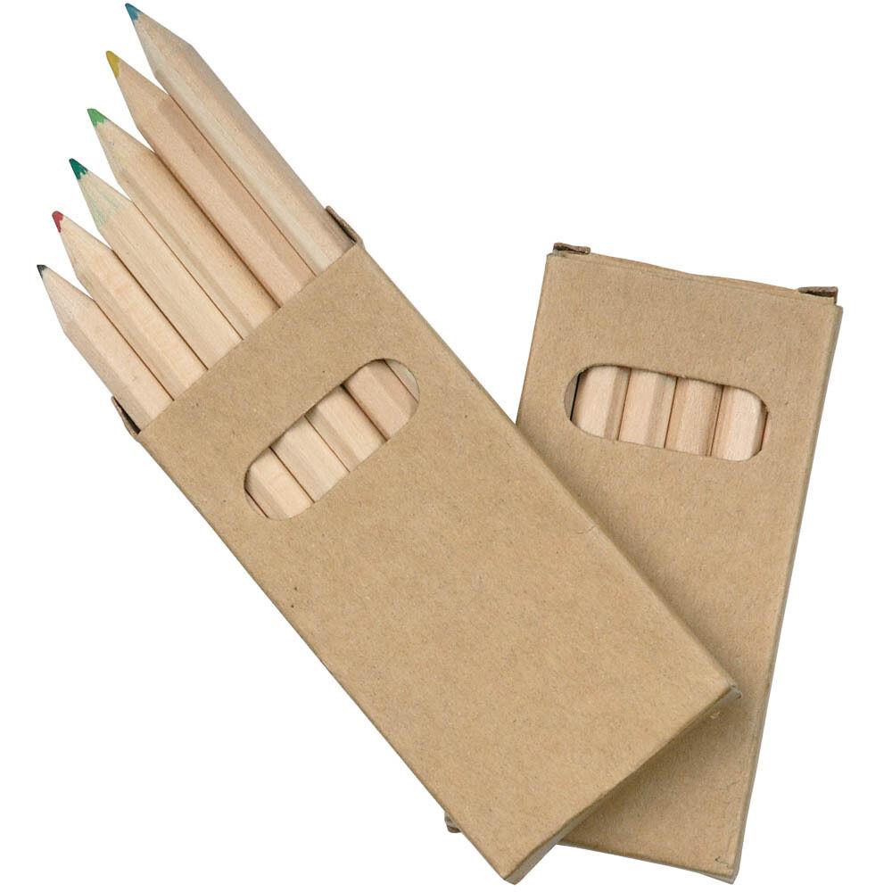 Stock 50 Set matite colorate disegno bambin 6 pezzi scuola asilo regalo gadget