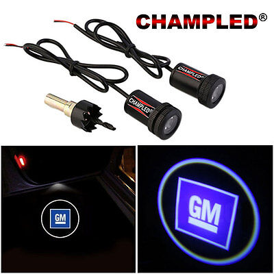 Champled For Gm General Door Projector Logo Shadow Car Tuning Lights Emblem
