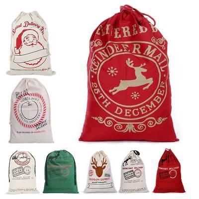 Christmas Santa Sack XMAS Gift Sack Stocking Storage Burlap Bag Wholesale Price!](Burlap Stockings Christmas)