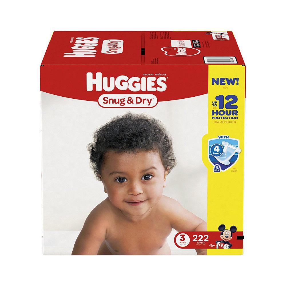 Купить ***NEW*** Huggies Snug & Dry Diapers Size 3, 222 Count ***FREE SHIPPING***