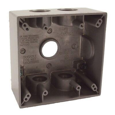 2-gang Weatherproof Electrical Outlet Gfci Plug Box With Five 34 Outlets
