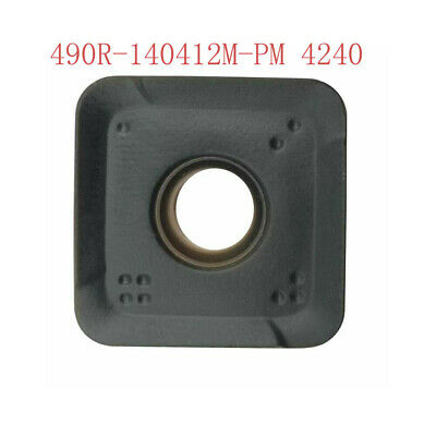 100pcs 490r-140412m-pm 4240 Threading Carbide Inserts Cutting Tool For Lathe Cnc