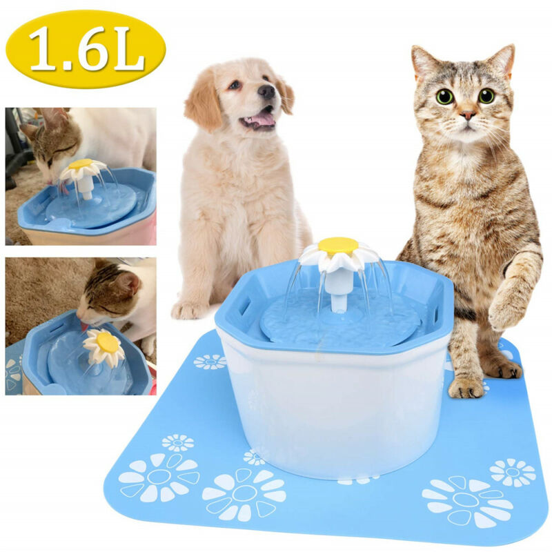 Pet Water Fountain Electric Water Dispenser For Cat Dog Automatic Three Modes SL
