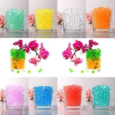 500 x Water Beads Clear Aqua Gel Crystals Bio Gel Balls Wedding Vase Centrepiece