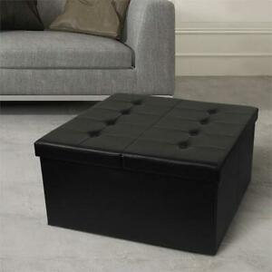 NEW Otto  Ben 30 Storage Ottoman with Smart Lift Top, Folding Square Coffee Table Foot Rest Stools Tufted Ottomans B...