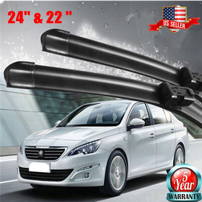 All Season 24  22 INCH Windshield Wiper Blades J HOOK OEM QUALITY Premium US