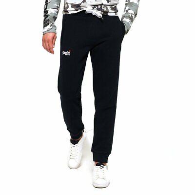 Superdry Men's Orange Label Slim Fit Jogger Pant - Black - Size Medium - NEW